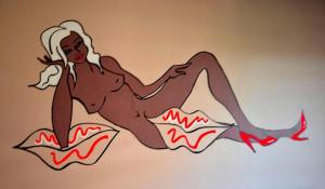 Dos Labios Sensual - Mural by Lauran Childs, New York